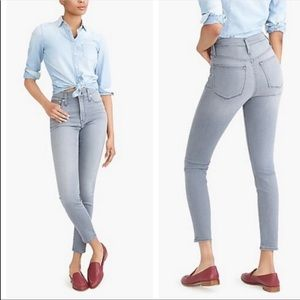J. Crew High Rise Skinny Jeans Light Gray Size 27